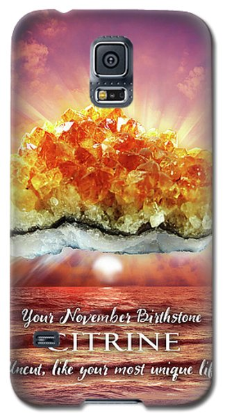 November Birthstone Citrine Galaxy S5 Case