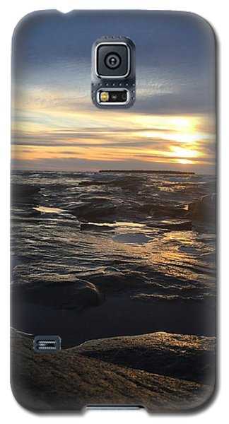 Galaxy S5 Case featuring the photograph November Sunset On Lake Superior by Paula Brown