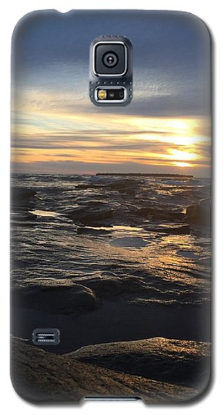 November Sunset On Lake Superior Galaxy S5 Case by Paula Brown