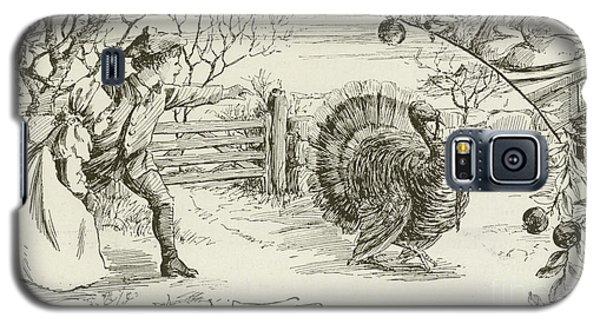 November   Vintage Thanksgiving Card Galaxy S5 Case