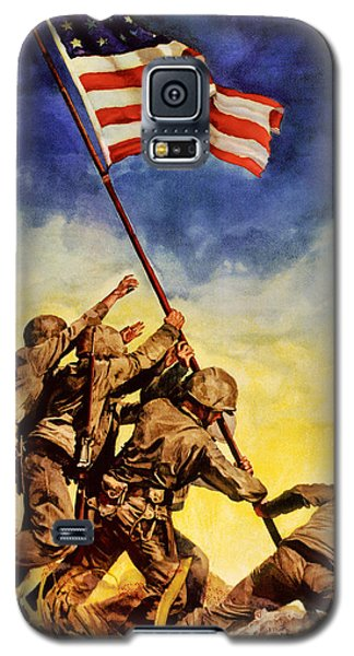 Now All Together Vintage War Poster Restored Galaxy S5 Case