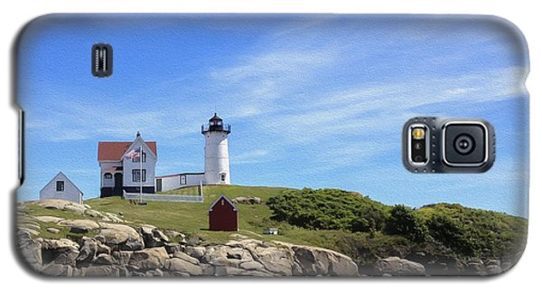 Galaxy S5 Case featuring the photograph Nubble Light House by Linda Constant