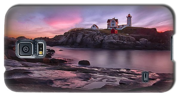Nubble Lighthouse At Sunrise York Me Galaxy S5 Case by Betty Denise