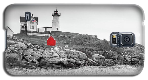 Nubble Lighthouse In Color And Black And White Galaxy S5 Case