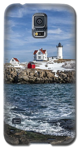 Nubble Lighthouse Winter Galaxy S5 Case
