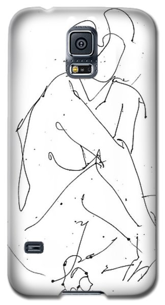 Nude-female-drawing-19 Galaxy S5 Case by Gordon Punt