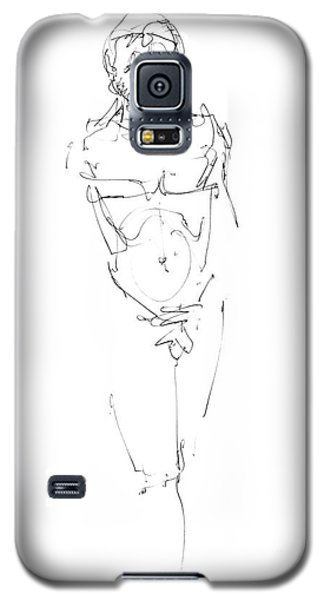 Nude Male Drawings 9 Galaxy S5 Case by Gordon Punt