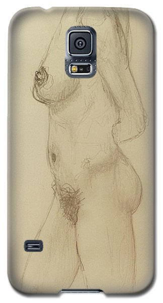 Nude Torso Standing Galaxy S5 Case by Rand Swift
