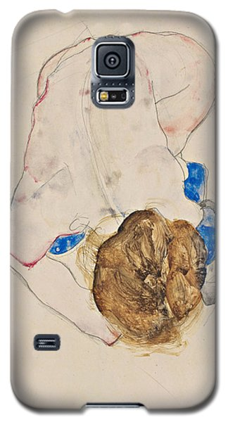 Nude With Blue Stockings, Bending Forward Galaxy S5 Case