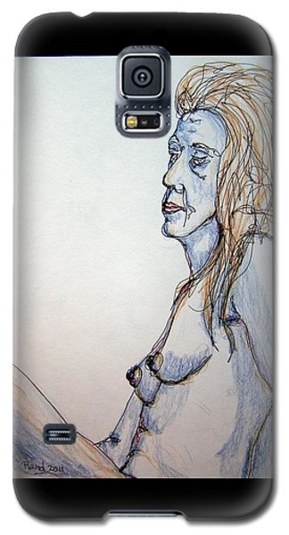 Nude With Blues Galaxy S5 Case by Rand Swift