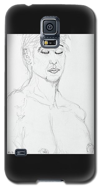 Nude With Eyes Closed Galaxy S5 Case by Rand Swift
