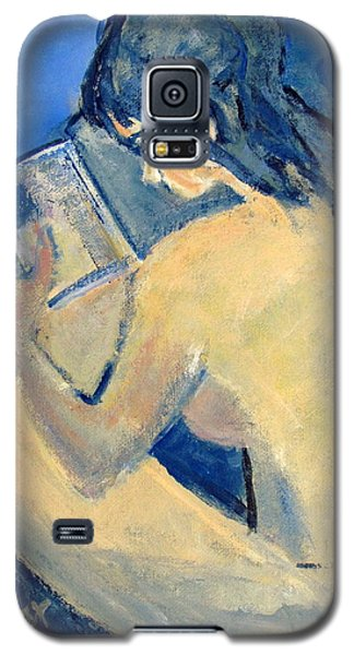 Nude With Nose In Book Galaxy S5 Case