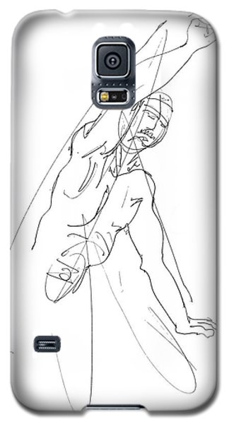Nude_male_drawing_25 Galaxy S5 Case