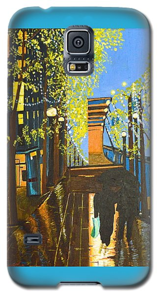 Galaxy S5 Case featuring the painting Nuit De Pluie by Donna Blossom