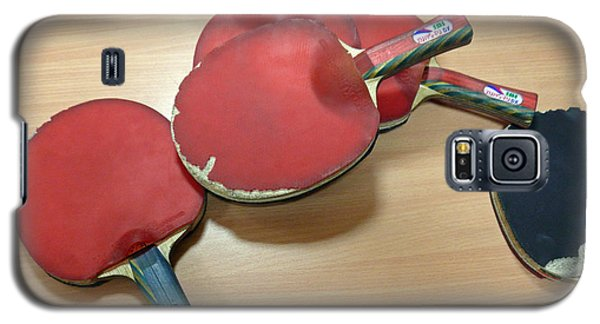 Number Of Ping Pong Bats Piled On A Table Galaxy S5 Case