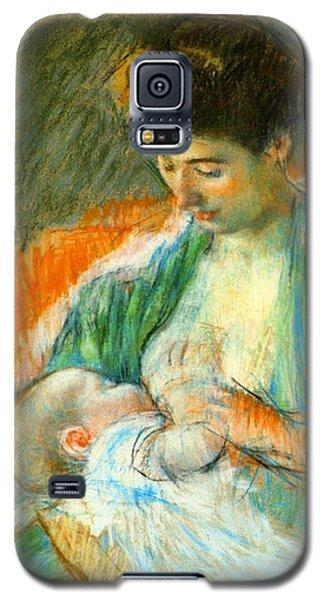 Nursing Infant 1900 Galaxy S5 Case by Padre Art