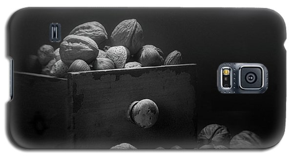 Galaxy S5 Case featuring the photograph Nuts In Black And White by Tom Mc Nemar