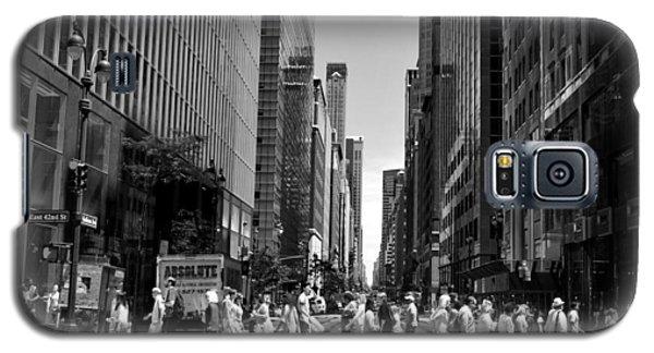 Nyc 42nd Street Crosswalk Galaxy S5 Case