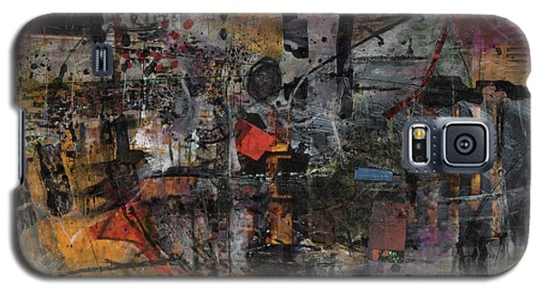 Galaxy S5 Case featuring the painting Nyc Abstract by Robert Anderson