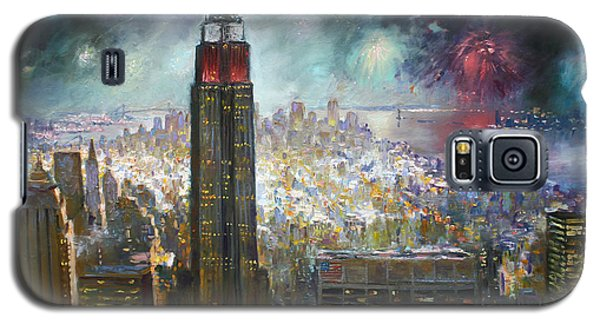 Nyc. Empire State Building Galaxy S5 Case by Ylli Haruni