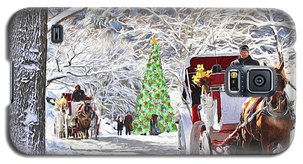 Festive Winter Carriage Rides Galaxy S5 Case by Sandi OReilly
