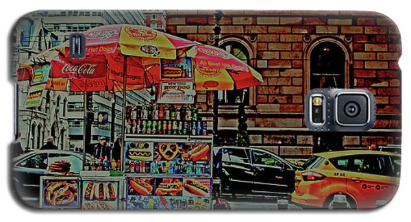 Galaxy S5 Case featuring the photograph New York City Food Cart by Sandy Moulder