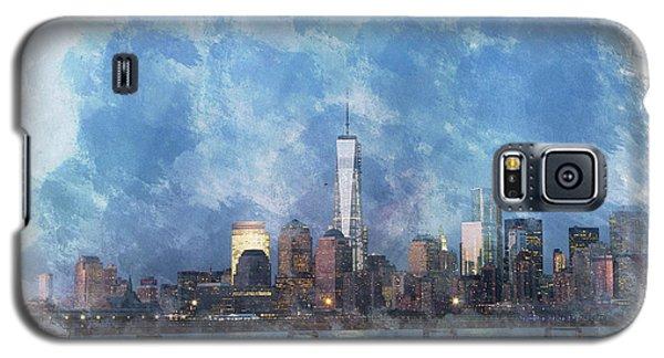 Nyc Skyline Portrait Galaxy S5 Case