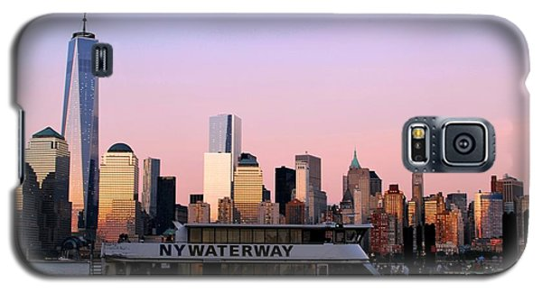 Nyc Skyline With Boat At Pier Galaxy S5 Case