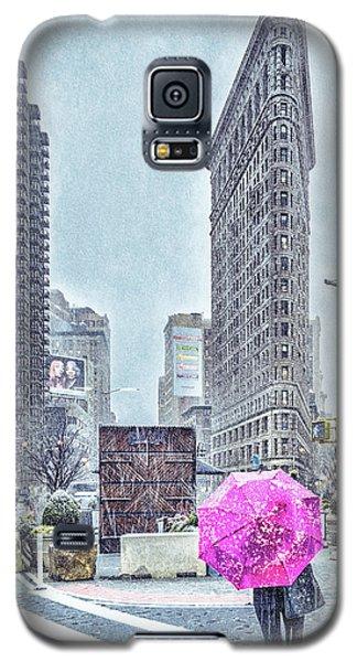 Nyc Snowy Scene Galaxy S5 Case