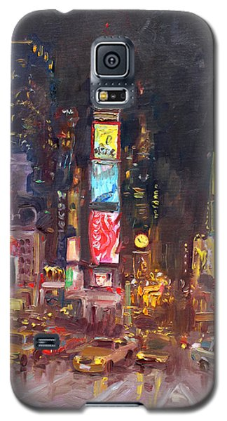 Nyc Times Square Galaxy S5 Case by Ylli Haruni