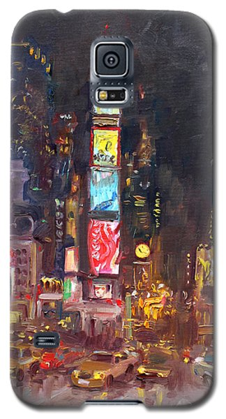 Times Square Galaxy S5 Case - Nyc Times Square by Ylli Haruni