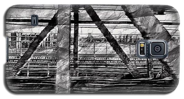 Nyc Train Bridge Tracts Galaxy S5 Case