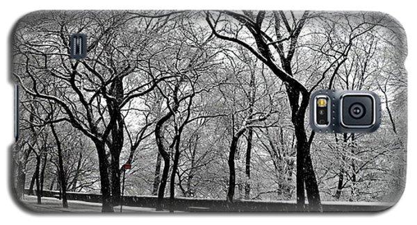 Galaxy S5 Case featuring the photograph Nyc Winter Wonderland by Vannetta Ferguson