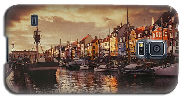 Nyhavn Sunset Copenhagen Galaxy S5 Case by Carol Japp