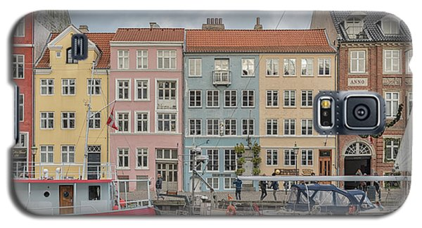 Galaxy S5 Case featuring the photograph Nyhavn Waterfront In Copenhagen by Antony McAulay