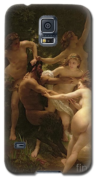 Nymphs And Satyr Galaxy S5 Case by William Adolphe Bouguereau
