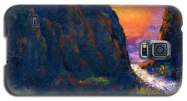 Galaxy S5 Case featuring the painting Oak Creek Canyon by Gail Kirtz