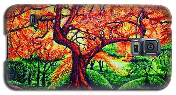Galaxy S5 Case featuring the painting OAK by Viktor Lazarev