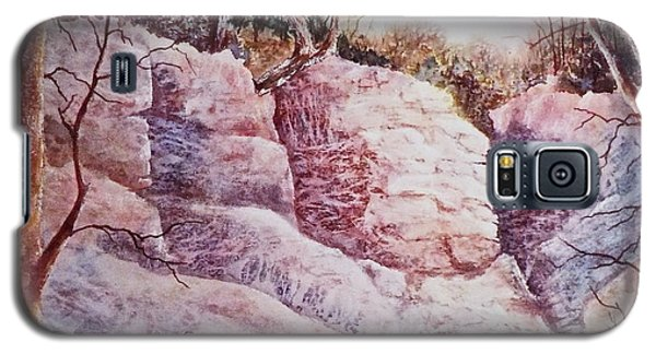 Galaxy S5 Case featuring the painting Oakfield Ridge by Carolyn Rosenberger