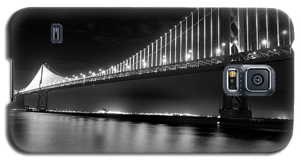 Galaxy S5 Case featuring the photograph Oakland Bay Bridge At Night by Darcy Michaelchuk