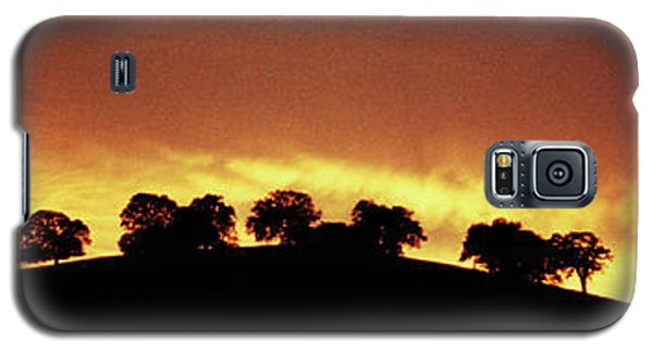 Galaxy S5 Case featuring the photograph Oaks On Hill At Sunset by Jim and Emily Bush
