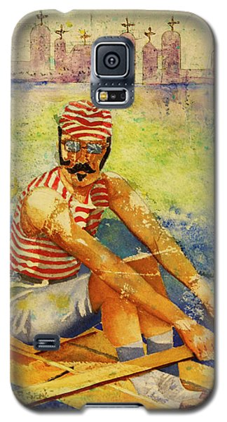 Galaxy S5 Case featuring the painting Oarsman by Cynthia Powell