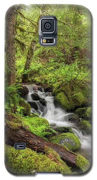 Galaxy S5 Case featuring the photograph Oasis In The Forest by Angie Vogel