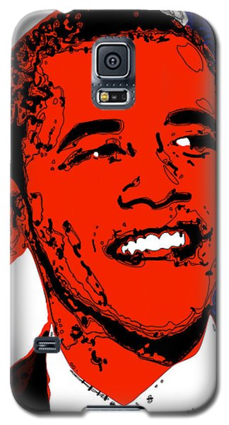 Galaxy S5 Case featuring the digital art Obama Hope by Rabi Khan