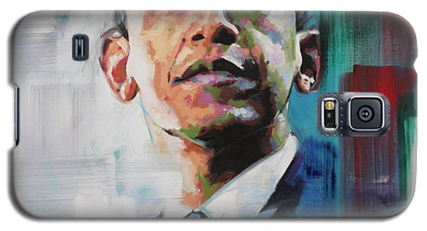 Galaxy S5 Case featuring the painting Obama by Richard Day