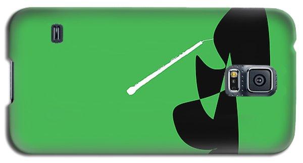 Oboe In Green Galaxy S5 Case by David Bridburg