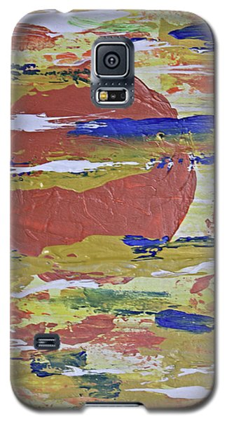 Obscure Orange Abstract Galaxy S5 Case