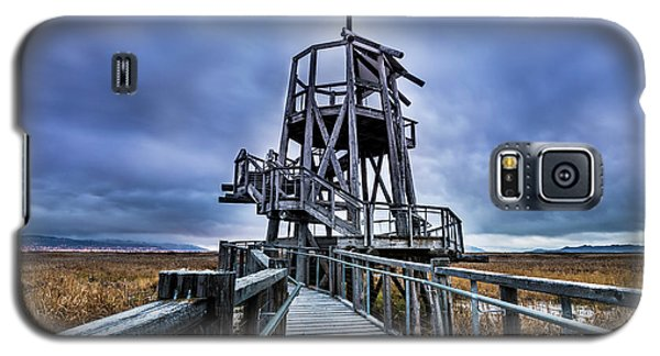 Galaxy S5 Case featuring the photograph Observation Tower - Great Salt Lake Shorelands Preserve by Gary Whitton