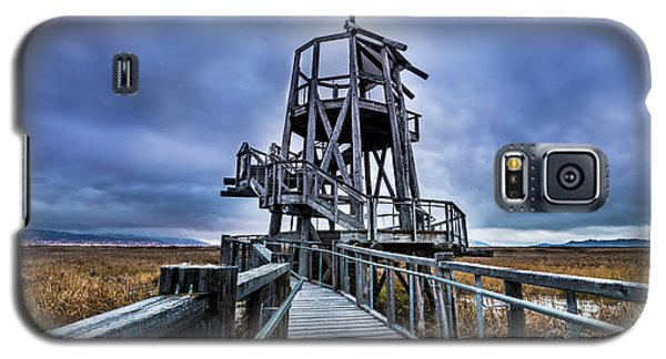 Observation Tower - Great Salt Lake Shorelands Preserve Galaxy S5 Case by Gary Whitton