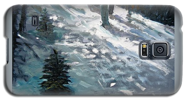 Galaxy S5 Case featuring the painting Observing Snow by Gary Coleman